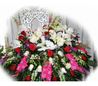 Flight of Doves Casket Spray in Lake Charles LA, A Daisy A Day Flowers & Gifts, Inc.