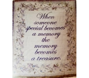 When Someone Becomes a Memory throw in Crown Point IN, Debbie's Designs