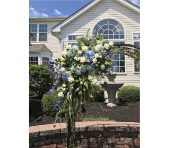 Blue & White Arch 3 in Somerset NJ, Flower Station