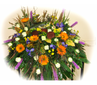 Gone Fishin' Casket Spray in Lake Charles LA, A Daisy A Day Flowers & Gifts, Inc.