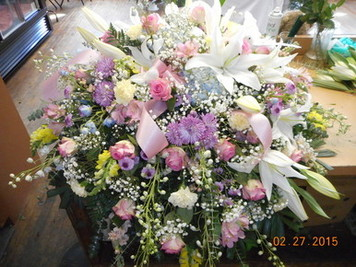Mixed Casket Spray in Middletown OH, Flowers by Nancy