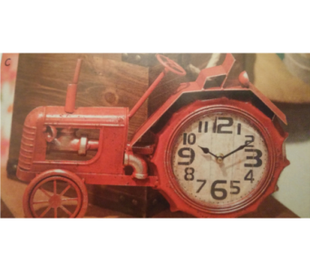 Tractor Table Clock in Zanesville OH, Miller's Flower Shop