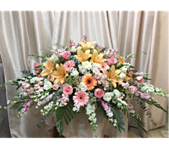 Custom Full Size Casket by Main Street Florist in Orange CA, Main Street Florist