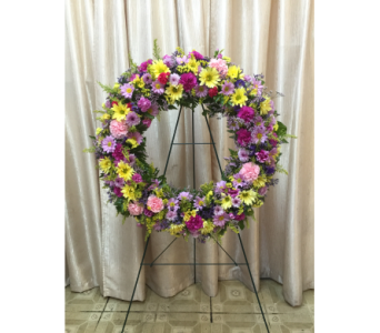 Eternity Wreath By Main Street Florist in Orange CA, Main Street Florist