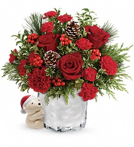 Send a Hug Winter Cuddles by Teleflora in Herndon VA, Bundle of Roses