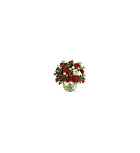 Teleflora's Classic Pearl Ornament Bouquet in Ypsilanti MI, Enchanted Florist of Ypsilanti MI
