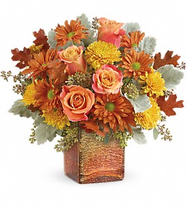 Teleflora's Grateful Golden Bouquet in Wichita Falls TX, Autumn Leaves