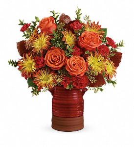 Teleflora's Heirloom Crock Bouquet in Los Angeles CA, La Petite Flower Shop