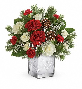 Teleflora's Woodland Winter Bouquet in Redwood City CA, A Bed of Flowers