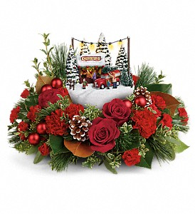 Thomas Kinkade's Festive Moments Bouquet in Redwood City CA, A Bed of Flowers
