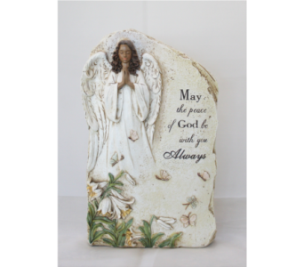 Praying Garden Angel Standing Plaque in Westland MI, The Flower Shop