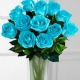 Aqua Tinted Island Rose Bouquet in Moncks Corner SC, Berkeley Florist