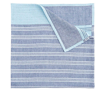 Soft Muslin Blanket, Blue Stripe in Detroit and St. Clair Shores MI, Conner Park Florist