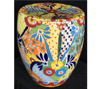 Talavera Garden Stool in Orlando FL, Harry's Famous Flowers