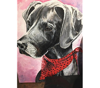 Dog Portrait Example in Independence MO, Alissa's Flowers, Fashion & Interiors