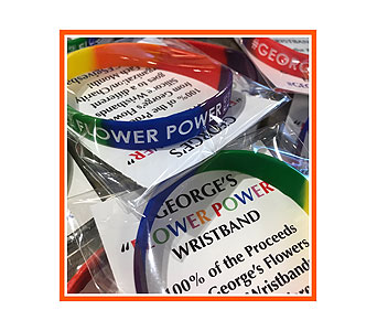 George's �FLOWER POWER� Wristband in Madison WI, George's Flowers, Inc.