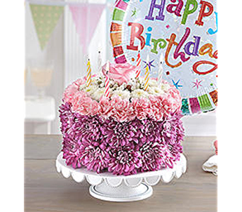 Flowering Pastel Cake in Toledo OH, Myrtle Flowers & Gifts