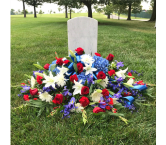 AMERICAN GLORY GRAVE BLANKET/CASKET SPRAY in Arlington VA, Twin Towers Florist