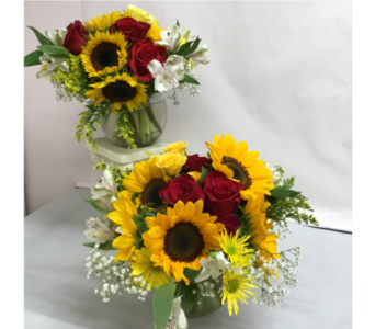Sunflower Centerpieces in Etna PA, Burke & Haas Always in Bloom