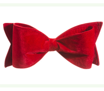 ALLSTATE FLORAL RED VELVET BOW, 8X20 in Bellevue WA, CITY FLOWERS, INC.