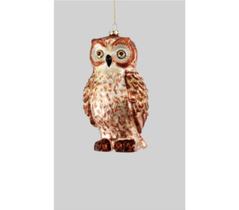 Katherine�s Collection Large standing Owl ornamen in Bellevue WA, CITY FLOWERS, INC.