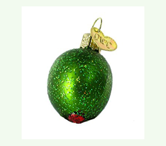 OLD WORLD CHRISTMAS GREEN STUFFED OLIVE  in Bellevue WA, CITY FLOWERS, INC.