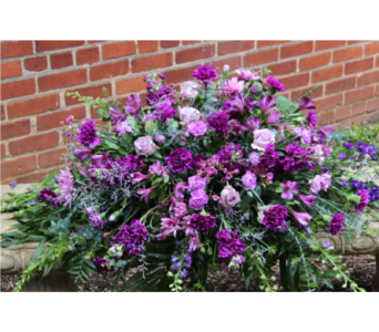 Lavender & Plum Tribute in Winchester VA, Flowers By Snellings