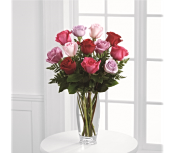 Captivating Color� Rose Bouquet by Vera Wang  in Palm Coast FL, Garden Of Eden