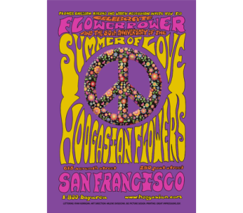 Summer of Love Poster in San Francisco CA, Hoogasian Flowers
