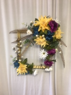 Gold Picture Frame Wreath in Elyria OH, Botamer Florist & More