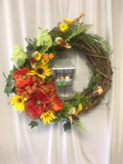 Hanging Birdcage Wreath in Elyria OH, Botamer Florist & More