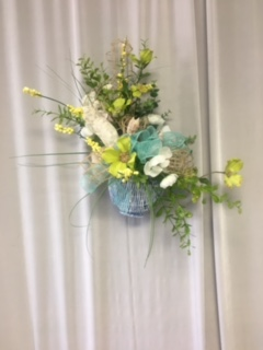 Spring Basket Wreath in Elyria OH, Botamer Florist & More
