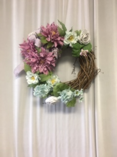 Vintage Purple & Blue Wreath in Elyria OH, Botamer Florist & More