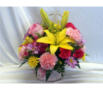 Bright Blooms Basket in Hollidaysburg PA, Warner's Florist Gifts & Greenhouse
