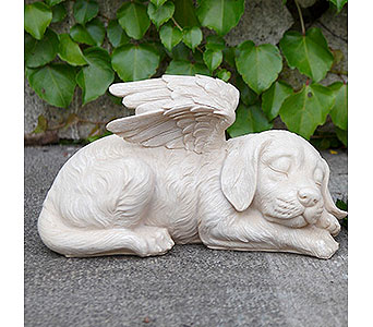 Sleeping Angel Dog with Wings in East McKeesport PA, Lea's Floral Shop