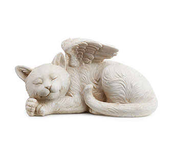 Sleeping Angel Cat with Wings in East McKeesport PA, Lea's Floral Shop