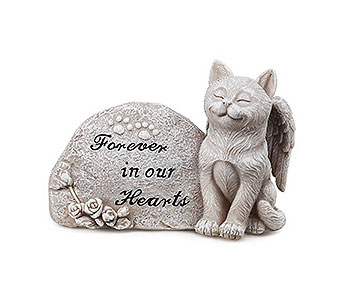 Memorial Plaque with Cat in East McKeesport PA, Lea's Floral Shop