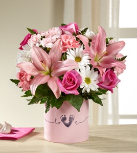 The Tiny Miracle� New Baby Girl Bouquet - VASE INC in Sapulpa OK, Neal & Jean's Flowers & Gifts, Inc.