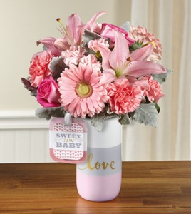 The Sweet Baby Girl� Bouquet by Hallmark - VASE IN in Sapulpa OK, Neal & Jean's Flowers & Gifts, Inc.
