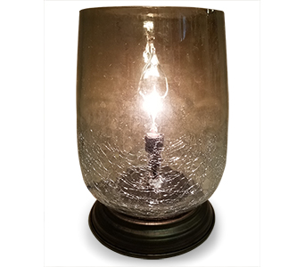Memory Lamp - Bourdeaux Mercury Smoke Glass  in Fort Worth TX, Greenwood Florist & Gifts