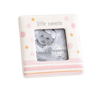 Little Sweetie Photo Frame in Pink in Tampa FL, Buds, Blooms & Beyond