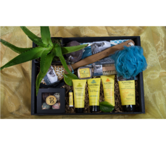 The Queen Bee Spa Crate in Reno NV, Bumblebee Blooms Flower Boutique
