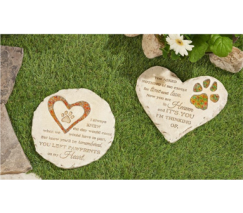 Pet Memorial Stepping Stone in Metropolis IL, Creations The Florist