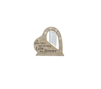 Love Forever Garden Stone with Chime in Metropolis IL, Creations The Florist
