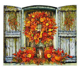 Lighted Harvest Shuttered Window in Tampa FL, Buds, Blooms & Beyond