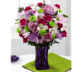 The FTD� Purple Pop Bouquet in San Antonio TX, Dusty's & Amie's Flowers