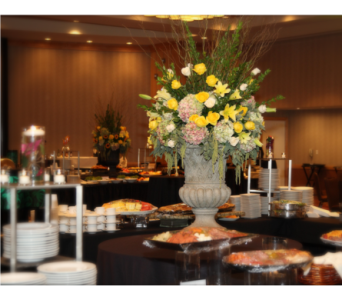 Rose, Lily, and Hydrangea Centerpieces in Somerset NJ, Flower Station