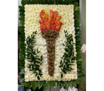 Special Olympics torch logo in Jersey City NJ, Entenmann's Florist