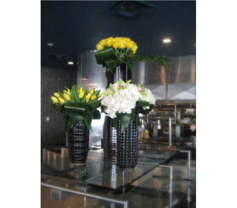 Hydrangea, Rose, and Tulip Bar Arrangements in Somerset NJ, Flower Station