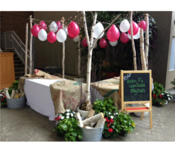 Balloon, Cedar, and Plant Display in Somerset NJ, Flower Station